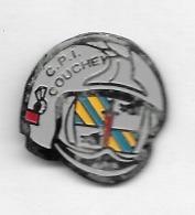 Pin's  Ville, Sapeurs  Pompiers  C P I  COUCHEY   ( 21 ) - Bomberos