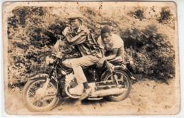 MOTO MOTORCYCLE HONDA - FOTO ORIGINALE AFRICA ANNI '60 - Altri