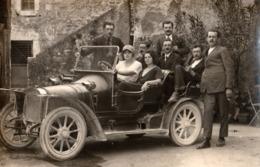 CULOZ Ou BEON - Automobile - Carte Photo Avec Personnage - Marcellin - France