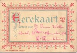 School  Erekaart - Irma Wille Ursel - 30 Nov. 1901 - Diplômes & Bulletins Scolaires