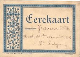 School  Erekaart - Maria Wille -  Ursel - 30 Nov 1902 - Diplômes & Bulletins Scolaires