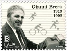 Italia Repubblica 2019 Gianni Brera Euro 1,10 MNH** Integro - 6. 1946-.. República
