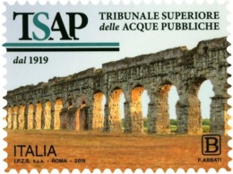 Italia Repubblica 2019 Tribunale Superiore Delle Acque Pubbliche Euro 1,10 MNH** Integro - 6. 1946-.. República