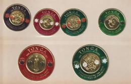 Tonga 1965 Monnaies De Polynésie 140-142,145 Et PA 11-12 6 Val Neuf ** MNH - Tonga (...-1970)