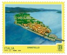 Italia Repubblica 2019 Serie Turistica Orbetello Euro 1,10 MNH** Integro - 6. 1946-.. República