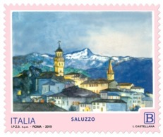 Italia Repubblica 2019 Serie Turistica Saluzzo Euro 1,10 MNH** Integro - 6. 1946-.. República
