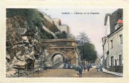 Belgique -  Namur - L' Entrée De La Citadelle - Place Pied Du Château - Encadrement Jaune - Namur