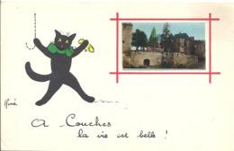 CPA Illustrateur René - A Couches La Vie Est Belle - Chat - Autres Illustrateurs
