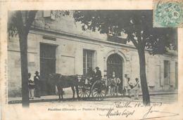 CPA 33 Gironde Pauillac Postes Et Télégraphes - Attelage - Facteurs - Pauillac