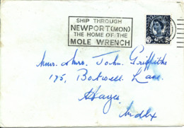 Great Britain Cover Newport 6-1-1969 Single Franked - 1952-.... (Elizabeth II)