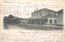 CPA 33 Gironde Pauillac La Gare Train - Pauillac