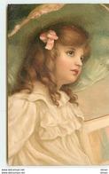 N°8394 - Carte Fantaisie - Portrait D'une Fillette Avec Un Chapeau - Portraits
