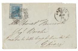 DA BRESCIA A CHIARI - 21.3.1875. - Storia Postale