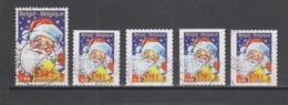COB 3466 / 3467 Oblitération Centrale Père Noël - Used Stamps