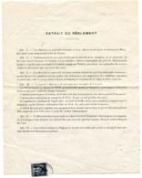 CALVADOS De CAEN Imprimé Concession D'eau Avec SAGE N°83 Oblitéré Par Dateur A 2 Du 16/04/1898 - 1877-1920: Periodo Semi Moderno