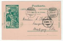 Suisse // Schweiz // Switzerland //  Entier Postaux // Entier Postal 1900 Au Départ De Lausanne Pour Martigny - Entiers Postaux