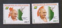 Côte D'Ivoire 2019 Ivory Coast 150ème Anniversiare De Mahatma  Gandhi  Apôtre De La Paix 2 Timbres - Côte D'Ivoire (1960-...)