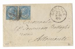 DA COSENZA AD ALTOMONTE - 23.9.1878. - Marcofilía