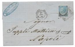 DA BERGAMO BASSA A NAPOLI - 29.9.1866. - Marcofilía