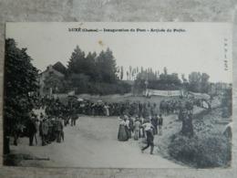 LUXE    CHARENTE      INAUGURATION DU PONT     ARRIVEE DU PREFET - Francia