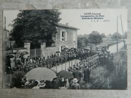 LUXE    CHARENTE      INAUGURATION DU PONT     ARRIVEE DU MINISTRE - Francia