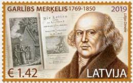 Latvia Lettland 2019.250th Anniversary Of Garlieb Merkel - Baltic German Writer .1 V .** . - Schriftsteller