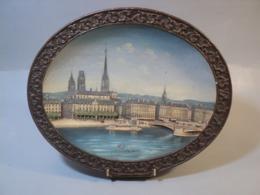 Plat Terre Cuite Relief 19ème Rouen Céramique Wilhelm Schiller & Son Österreich - Ceramica & Terraglie