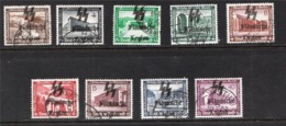 Surcharge 'Flemish Legion'  Sur Série Allemagne (set Complet)  (Guerre II) - Probablement Faux (Forgery) - Belgio