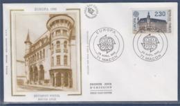 = Europa 1990 Enveloppe 71 Macon 28.4.90 N°2642 Bâtiment Postal Historique De Mâcon - 1990