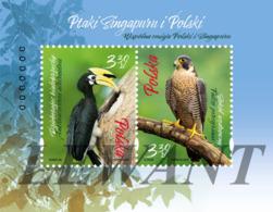 2019.10.30. Birds Of Singapore And Poland - Joint Edition - Block MNH - 1944-.... République