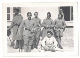 MILITARIA OCCITANIE 34 MONTPELLIER 1936 QUARTIER LEPIC ARTILLERIE VERITABLE ORIGINAL PHOTO NON DENTELEE GEVAERT RIDAX - Guerre, Militaire