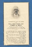 GENEALOGIE FAIRE PART DECES NOBLESSE HENRY MARIE  ANATOLE  CARRE DE BRAY DAMPIERRE EN BURLY 1883 - Décès