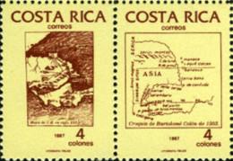 Ref. 198707 * NEW *  - COSTA RICA . 1987. 500th ANNIVERSARY OF AMERICA  DISCOVERY. 500 ANIVERSARIO DEL DESCUBRIMIENTO DE - Costa Rica