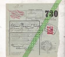 Militaire Vrachtbrief, 1939, Belgisch Leger, Wilrijk, Braine-L'Alleud - Chemins De Fer