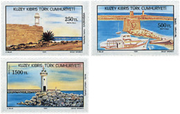 Ref. 51451 * NEW *  - CYPRUS. Turkish Adm. . 1991. LIGHTHOUSES. FAROS - Nuovi