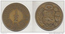 Pérou 1/2 Sol De Oro 1935 Peru - Peru