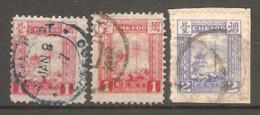 3 Timbres De 1893/96 ( China Local Post - Chefoo ) - China