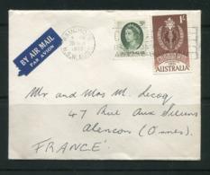 AUSTRALIE- Enveloppe De 1965 Avec Timbres Y&T N°273 Et 290 - 1952-65 Elizabeth II: Dezimalausgaben (Vorläufer)