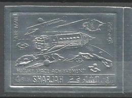 Sharjah,Future Space Achievement 1972.,silver-imperforated,MNH - Schardscha