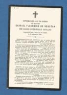 GENEALOGIE FAIRE PART DECES NOBLESSE FLACHAIRE DE ROUSTAN NEYRAND 1886 - Décès