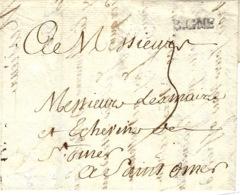 1741- Lettre De B.GNE   ( Boulogne Sur Mer ,Pas De Calais ) Lenain N°2 - Poststempel (Briefe)