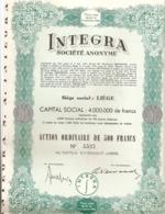 Integra - Actions & Titres