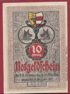 Allemagne 1 Notgeld 10 Pfenning  Stadt Wismar (  RARE) Dans L 'état Lot N °5017 - [ 3] 1918-1933 : República De Weimar