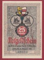 Allemagne 1 Notgeld 25 Pfenning  Stadt Wismar (  RARE) Dans L 'état Lot N °5018 - [ 3] 1918-1933 : República De Weimar