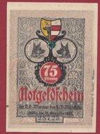 Allemagne 1 Notgeld 75 Pfenning  Stadt Wismar (  RARE) Dans L 'état Lot N °5019 - [ 3] 1918-1933 : República De Weimar