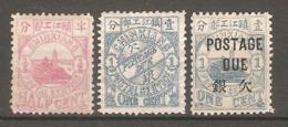3 Timbres De 1894 ( China Local Post - Chinkiang ) - Nuevos