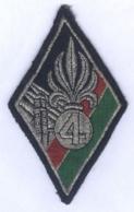 Insigne Du 4e Régiment Etranger - Stoffabzeichen
