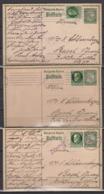 Bayern 3x Ganzsache P 93 ZuF Als Auslandskarte Von Kaiserslautern 1914/15 In Die Schweiz Mit 3x Zensur - Bavière