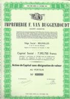 Imrimerie E. Van Buggenhout - Actions & Titres