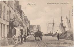 50 CHERBOURG  Perspective Du Quai Alexandre III - Cherbourg